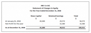 Statement of Change in Equity